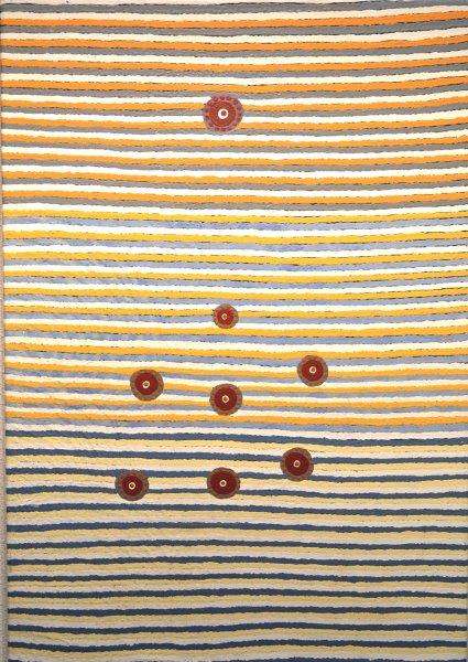 Doris Teamay, seven sisters story (kungkarangkalpa)2008, 86x60cm acrylic on canvas, certificate
