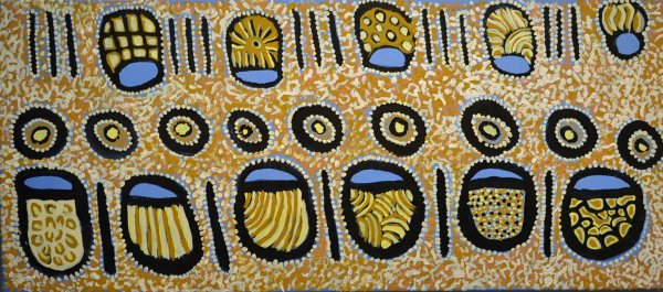 Nellie Coulthard, Wira 40x90cm acrylic on canvas. certificate