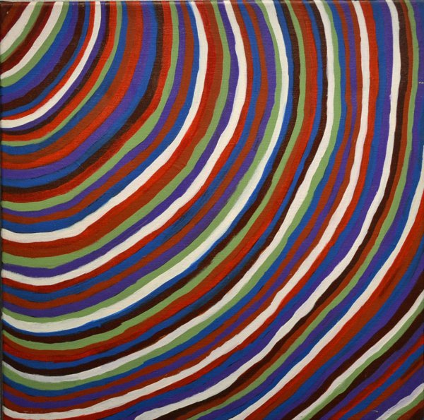 Pansy Hicks, Munny munny hill2 (sandhills2) 50x50cm acrylic on canvas