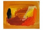 O-68 Eugene Brands Compositie tegen amberkleurig fond