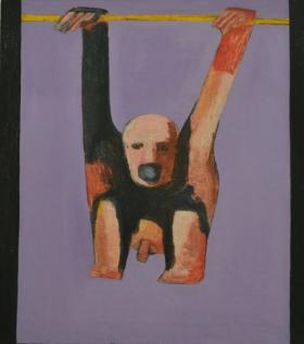 Ad Gerritsen, Dood van een kardinaal, 1965, 140x125cm web