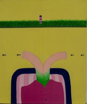 Ad Gerritsen, grasplateau, 1969, 120x100cm web