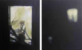 Windows IV-V 2014, Oil on canvas ,dyptich each canvas 50 x 40 cm jpg