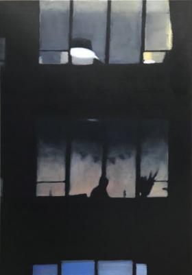 Windows XXVII 2019 oil on canvas 100 x 70 cm
