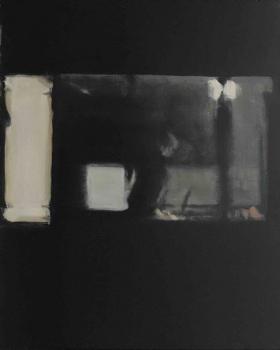 Windows on paper XVI 2020 oil on paper 50 x 40 cm