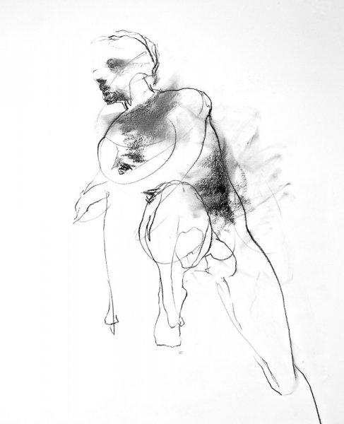 Arlene Diehl, O-68-13, 2012, 97x64cm,drawing, framed
