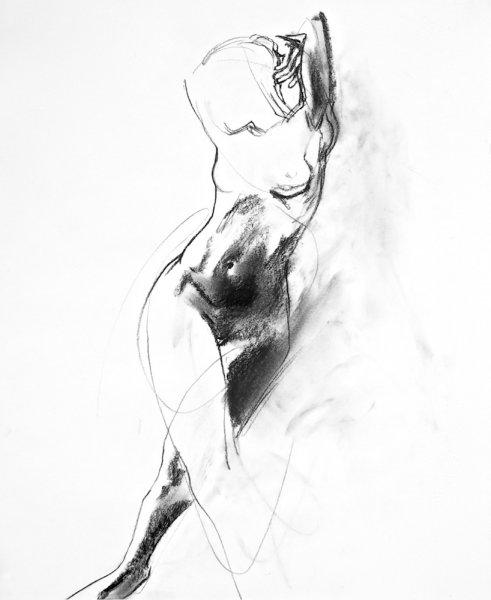Arlene Diehl, O-68-14, 2015, 95x58cm, drawing, framed