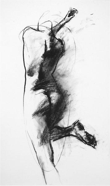 Arlene Diehl, drawing, O-68-12, 2009, 94x56cm, framed