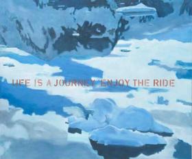 Suspicious landscapes ( life is a jouney, enjoy the ride), 120x140 cm, 2012
