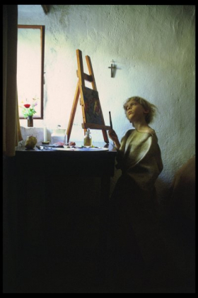 O-68 Dovrat Amsily-Barak The young painter (with still life) 70x70cm