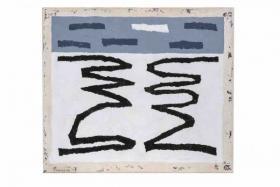 O-68 Harrie Gerritz, Balck Rivers, 2017, olie op doek 70x80cm web