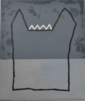 o-68 harrie gerritz, kleine roofburcht, 2013, 100x85 cm web