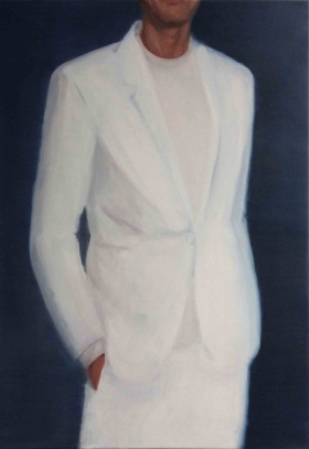 Suit, white 2017 oil on canvas 100 x 70 cm € 3.900,-