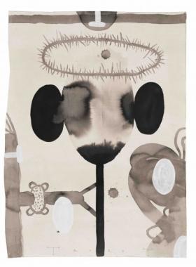 o-68 Terry Thompson Crown and Sceptre, gem. techniek op papier, 65 X 49 cm, 2020 copy
