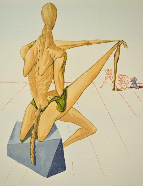 Salvador Dali, Divina commedia inferno05, 1960, 33x26cm wood engraving