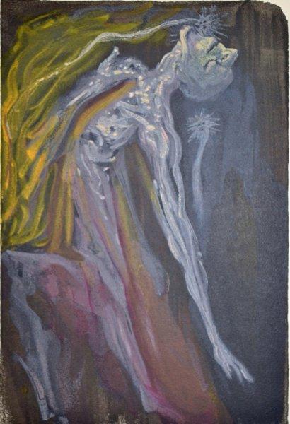 Salvador Dali, Divina commedia inferno09, 1960, 33x26cm wood engraving
