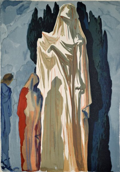 Salvador Dali, Divina commedia inferno10, 1960, 33x26cm wood engraving