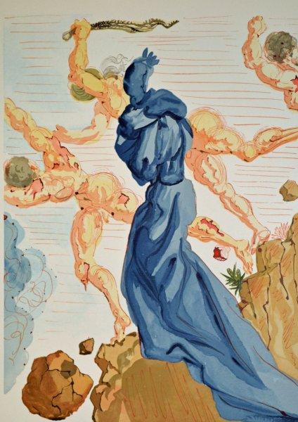 Salvador Dali, Divina commedia inferno15, 1960, 33x26cm wood engraving