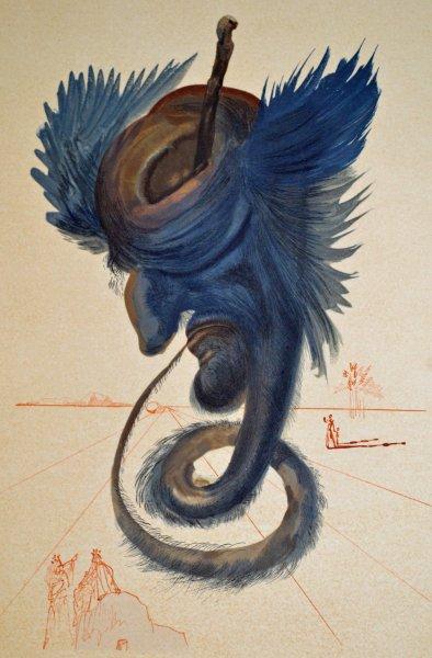 Salvador Dali, Divina commedia inferno20, 1960, 33x26cm wood engraving