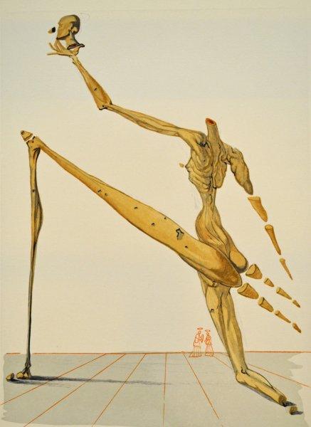 Salvador Dali, Divina commedia inferno28, 1960, 33x26cm wood engraving