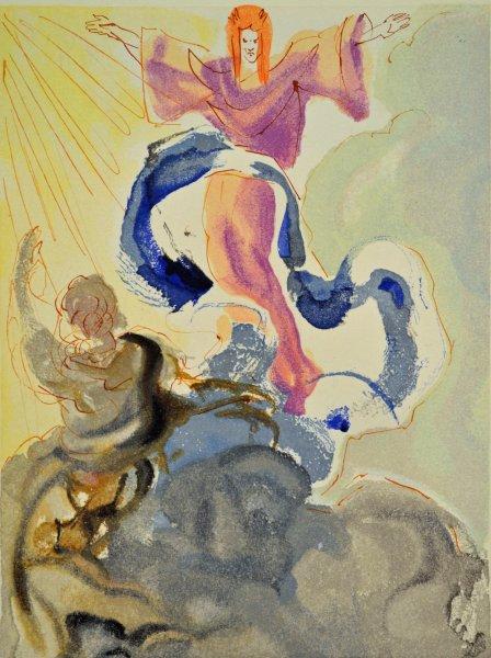 Salvador Dali, Divina commedia paradiso03, 1960, 33x26cm wood engraving