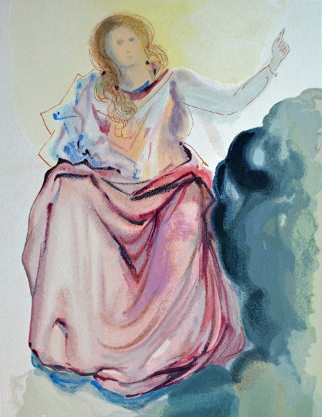 Salvador Dali, Divina commedia paradiso04, 1960, 33x26cm wood engraving