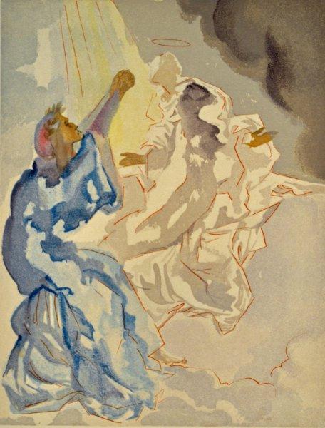 Salvador Dali, Divina commedia paradiso05, 1960, 33x26cm wood engraving