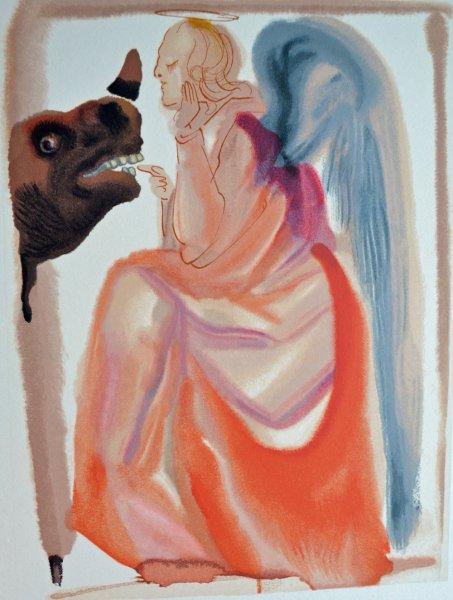 Salvador Dali, Divina commedia paradiso06, 1960, 33x26cm wood engraving