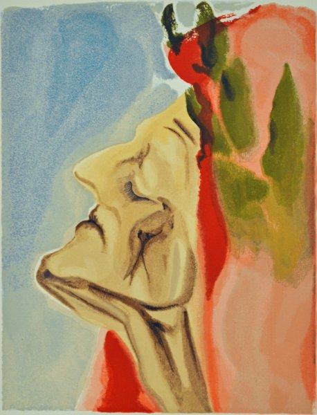 Salvador Dali, Divina commedia paradiso07, 1960, 33x26cm wood engraving