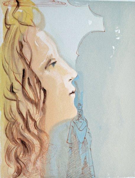 Salvador Dali, Divina commedia paradiso08, 1960, 33x26cm wood engraving