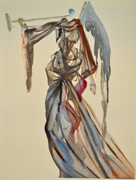 Salvador Dali, Divina commedia paradiso10, 1960, 33x26cm wood engraving