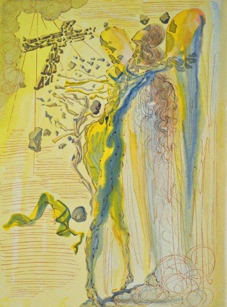 Salvador Dali, Divina commedia paradiso12, 1960, 33x26cm wood engraving