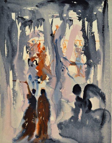 Salvador Dali, Divina commedia paradiso13, 1960, 33x26cm wood engraving