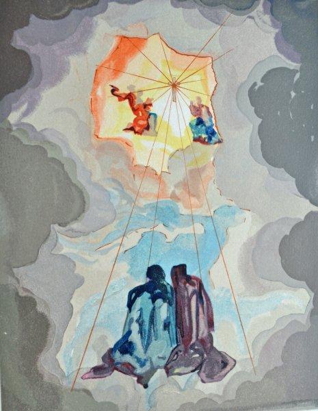Salvador Dali, Divina commedia paradiso15, 1960, 33x26cm wood engraving