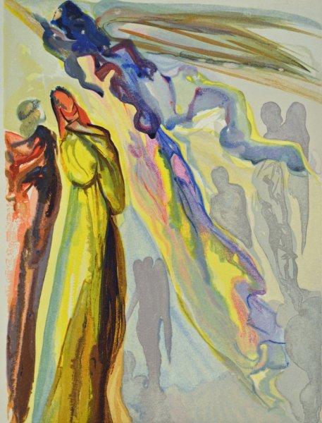 Salvador Dali, Divina commedia paradiso16, 1960, 33x26cm wood engraving