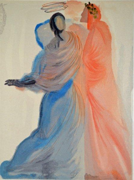 Salvador Dali, Divina commedia paradiso18, 1960, 33x26cm wood engraving