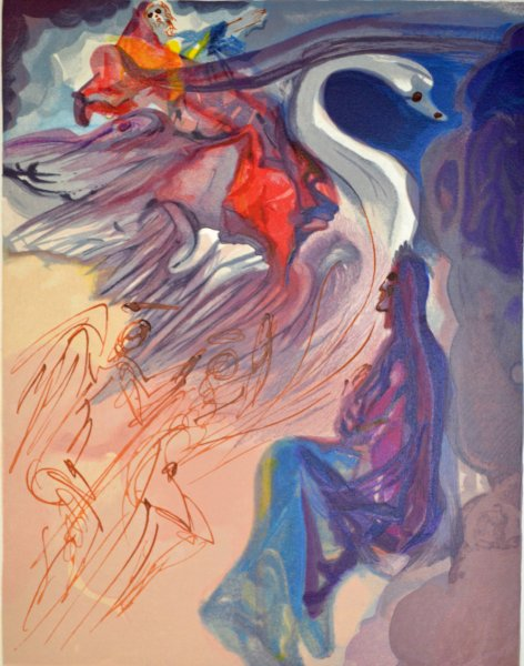 Salvador Dali, Divina commedia paradiso19, 1960, 33x26cm wood engraving