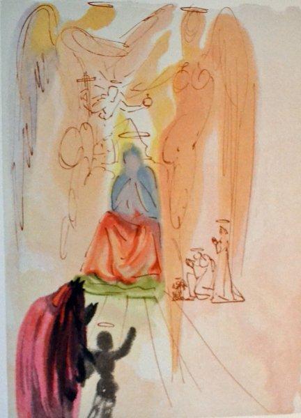 Salvador Dali, Divina commedia paradiso23, 1960, 33x26cm wood engraving