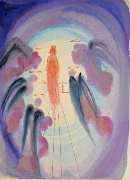 Salvador Dali, Divina commedia paradiso24, 1960, 33x26cm wood engraving