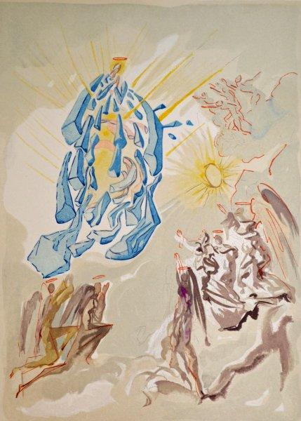 Salvador Dali, Divina commedia paradiso26, 1960, 33x26cm wood engraving