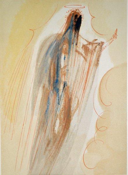 Salvador Dali, Divina commedia paradiso29, 1960, 33x26cm wood engraving