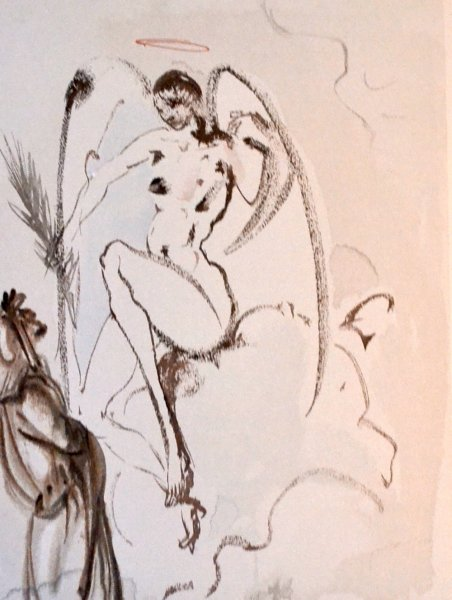Salvador Dali, Divina commedia paradiso31, 1960, 33x26cm wood engraving