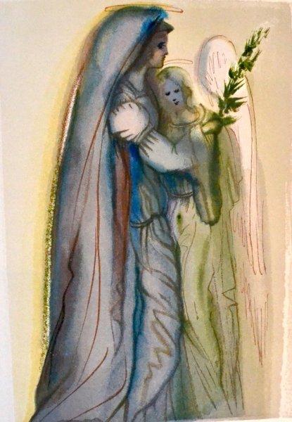 Salvador Dali, Divina commedia paradiso32, 1960, 33x26cm wood engraving