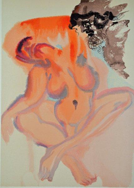 Salvador Dali, Divina commedia purgatorio03, 1960, 33x26cm wood engraving
