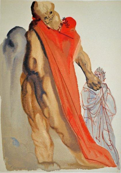 Salvador Dali, Divina commedia purgatorio05, 1960, 33x26cm wood engraving