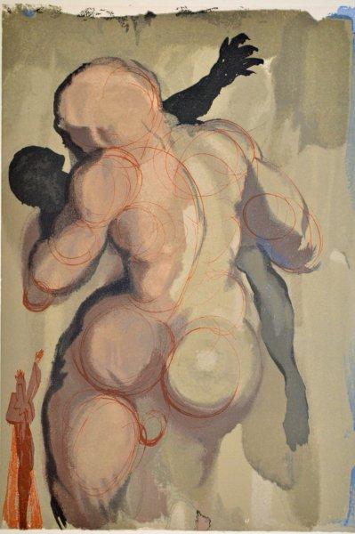 Salvador Dali, Divina commedia purgatorio06, 1960, 33x26cm wood engraving