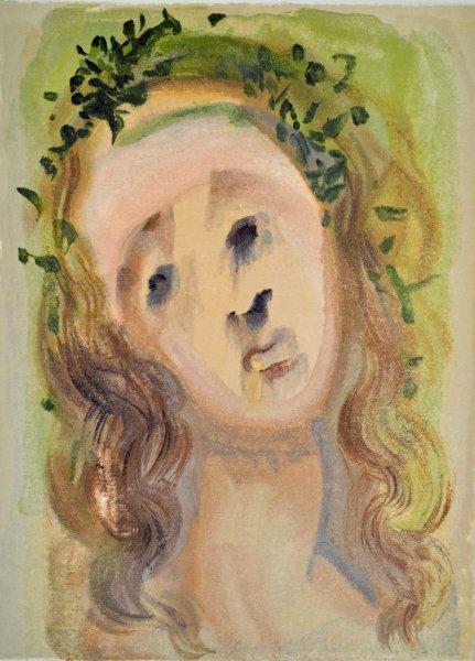 Salvador Dali, Divina commedia purgatorio10, 1960, 33x26cm wood engraving