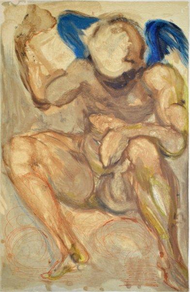 Salvador Dali, Divina commedia purgatorio15, 1960, 33x26cm wood engraving