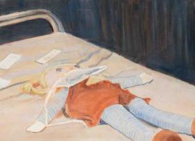 O-68 Johan Clarysse, La poupée de Sarah, 60x70 cm, 2017