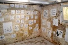 O-68 Joyce Burghout tekeningen in kelder
